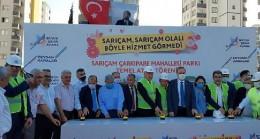 Adana Büyükşehir Belediyesi, Sarıçam Çarkıpare Mahallesi'nde park ve Ertuğrulgazi Mahallesi Akkuyu TOKİ'ye çocuk kreşi için düğmeye bastı.