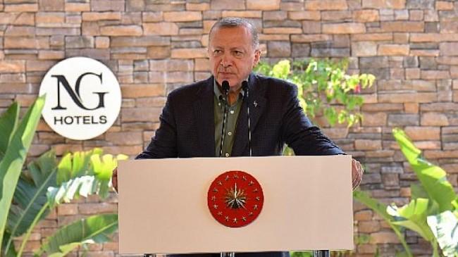 Cumhurbaşkanı Erdoğan: ''NG Phaselis Bay, ülkemizin turizmde yapmaya hazırlandığı büyük atılımın sembolüdür''