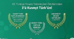 IDC Türkiye'den Kuveyt Türk'e ikisi altın üç ödül birden!