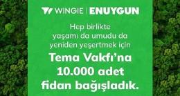 Enuygun'dan TEMA'ya 10 Bin Fidan Bağışı