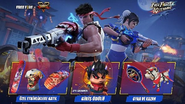 Free Fire'ın Street Fighter V iş birliği 10 Temmuz'da Final Raunduna Giriyor!
