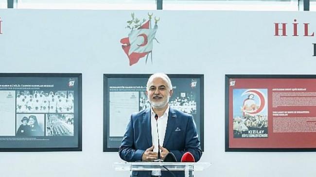 """Hilâl-i Ahmer'den Kızılay'a """"153 Yıllık İyilik Hareketimiz"""" sergisi İstanbul Havalimanı'nda açıldı"""