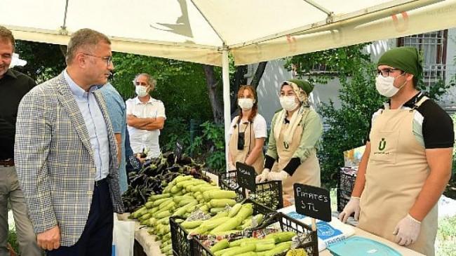 Kuzguncuk bostanı'nda aracısız köy pazarı kuruldu
