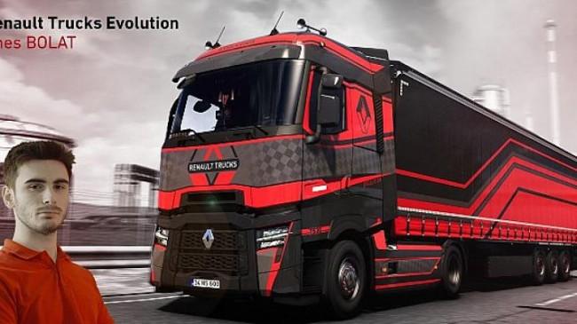 Renault Trucks'ın ets 2 oyunundaki uluslararası tasarım yarışmasını bir türk genci kazandı