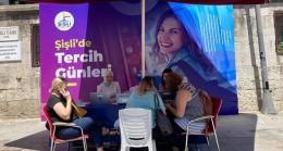 Şişli Belediyesi tercih tercih döneminde lise adaylarının yanında