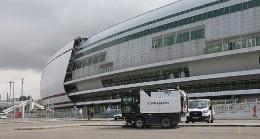4 Eylül Stadyumu'nda temizlik çalışmaları tamamlandı