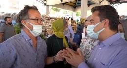 Babacan pazarda vatandaşlarla buluştu:  'Emekli, memur zor durumda'