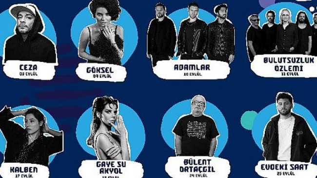 İzmir +1 Fest Sahnesi Kalben ve Gaye Su Akyol'u ağırlamaya hazırlanıyor